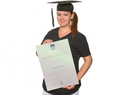 Juliane Sonnen beendet erfolgreich ihr Studium